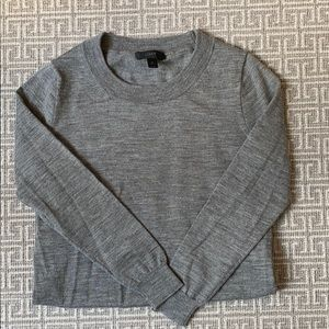 JCrew Tippi Sweater, Merino Wool, Grey, Size XS